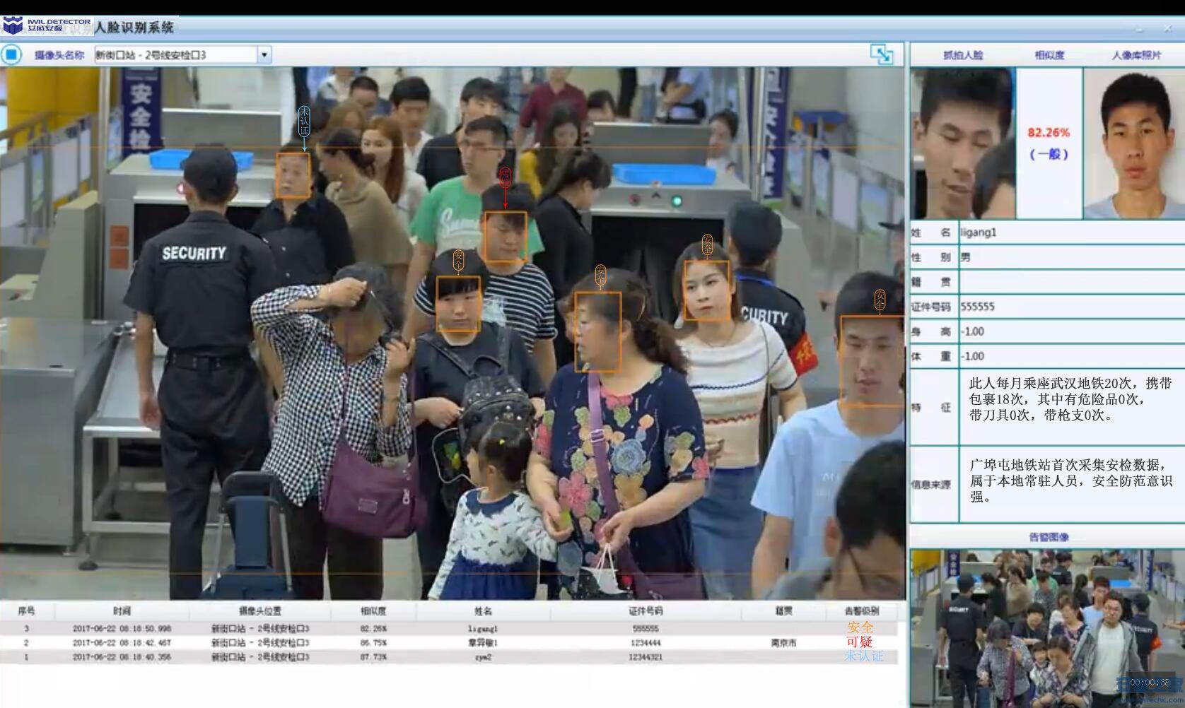 武汉IWILDT动态人脸识别安检系统是怎么解决春运期间大人流安全检查漏检困境的?