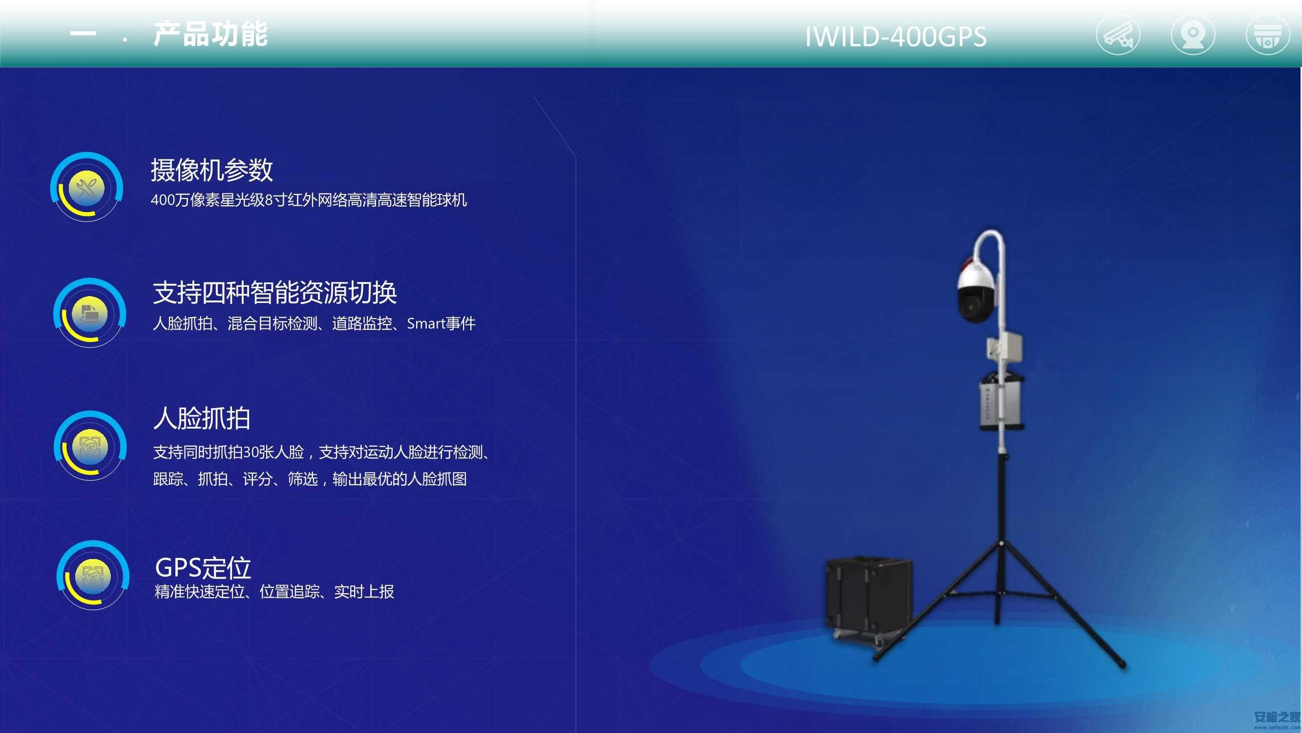 IWILD-400GPS便携式监控布防系统